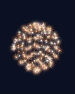 3D hvězdná koule stálesvítící, průměr 55 cm, teplá bílá