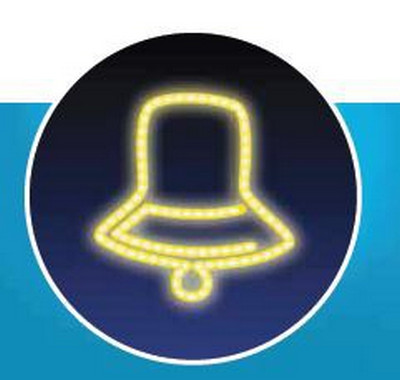 Zvonek, LED - žlutá