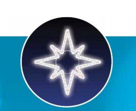 Hvězda, LED - studená bílá