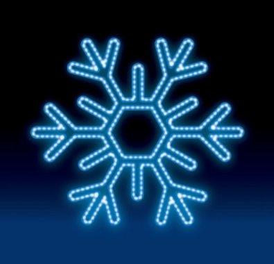 VLOČKA LED 20W 75x75 modrá