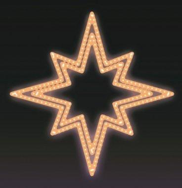 VÁNOČNÍ HVĚZDA LED 15W, teple bílá