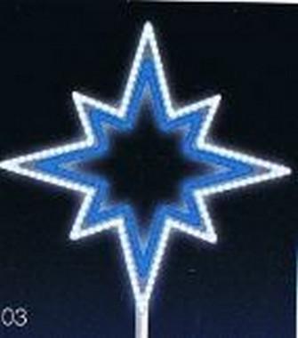 VÁNOČNÍ HVĚZDA LED 15W, modro-bílá