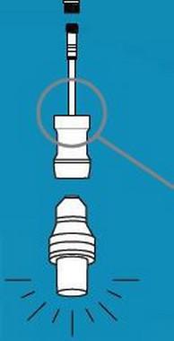 Jednostranný připojovací kabel E27 do systému LEGO-LIGHT 230V
