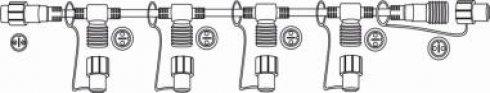 Průběžný rozbočovací kabel 230V