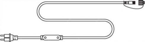 Napájecí kabel pro girlandu 3D SOFT LED 230V černý 1,5m