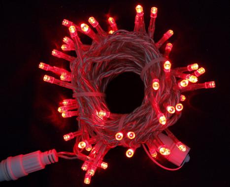Vánoční LED girlanda prodlužovací 230V - červená