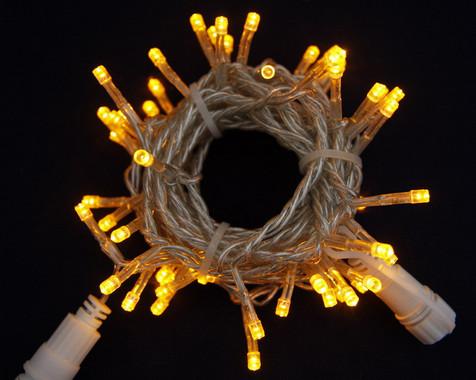 Vánoční LED girlanda prodlužovací 230V - žlutá