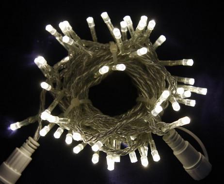 Vánoční LED girlanda prodlužovací 230V - bílá