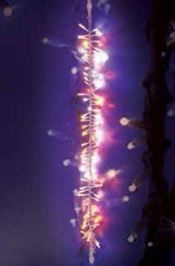 LED Girlanda BOA 67 LED teple bílé stále-svítící + 33 LED bílých blikajících 1m