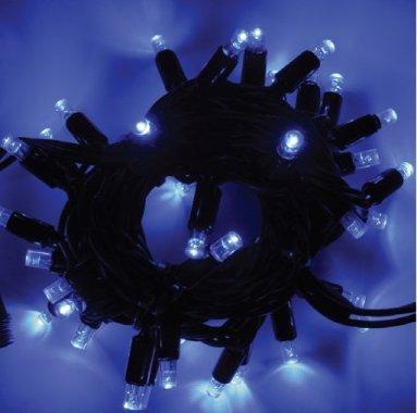 Girlanda LED PROFI 5m/35 + 5 flash LED modrých, prodloužitelná