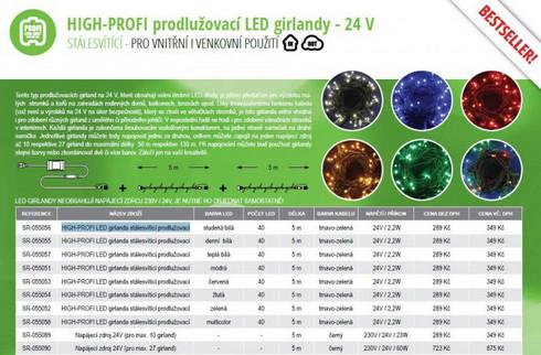 HIGH-PROFI LED girlanda prodlužovací - denní bílá