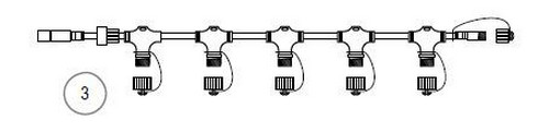 HIGH-PROFI průběžný rozbočovací kabel 24V