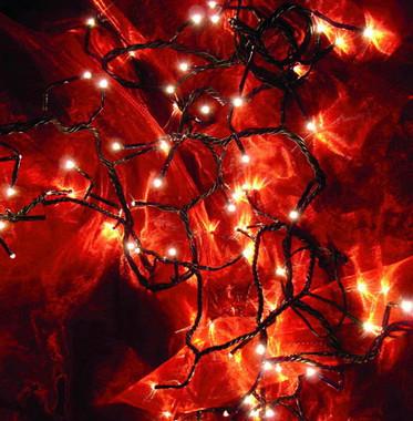 Vánoční efektová girlanda žárovková - čirá