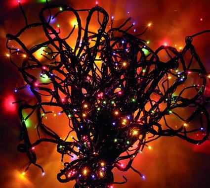 Vánoční efektová girlanda žárovková - multicolor