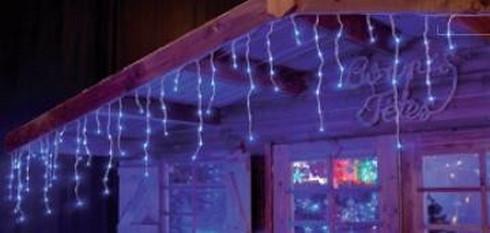 Vánoční světelné LED rampouchy - 24V - modrá