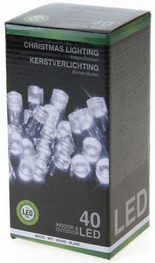 Vánoční LED girlanda 40 LED - 24V - studená bílá