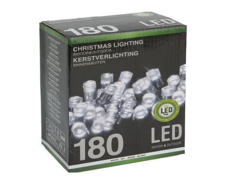 Vánoční LED girlanda 180 LED - 24V - studená bílá