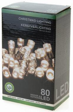 Vánoční LED girlanda 80 LED - 24V - teplá bílá