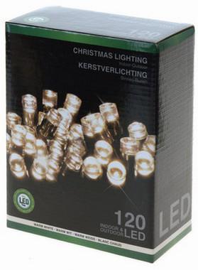 Vánoční LED girlanda 120 LED - 24V - teplá bílá