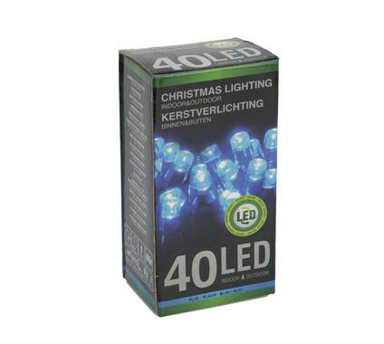 Vánoční LED girlanda 40 LED - 24V - modrá