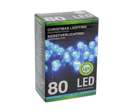 Vánoční LED girlanda 80 LED - 24V - modrá