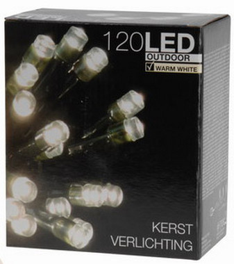 Vánoční LED girlanda 120 LED - 24V - teple bílá