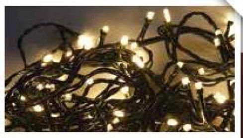 LED girlanda vnitřní / venkovní, teplá bílá, 120 LED