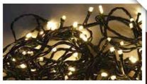 LED girlanda vnitřní / venkovní, teplá bílá, 240 LED