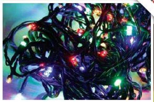 LED girlanda vnitřní / venkovní, multicolor, 80 LED