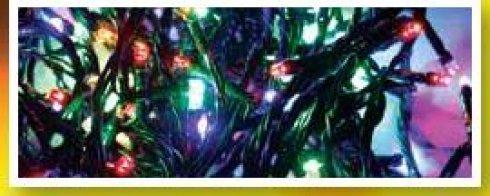 LED girlanda na baterie venkovní s ovladačem, multicolor, 24 LED