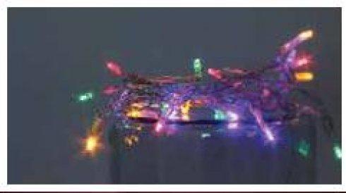 LED girlanda na baterie vnitřní, multicolor - 10 LED