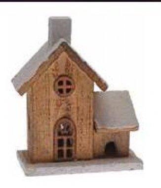Dřevěný domek - malý (včetně baterií)