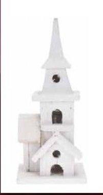 Dřevěný kostel - bílý