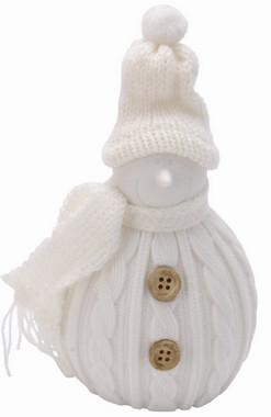 Sněhulák svítící - bílý