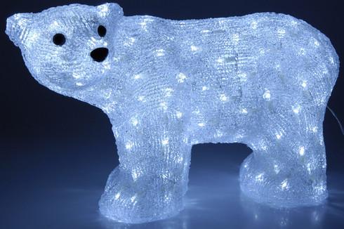 3D LED lední medvěd - svítící