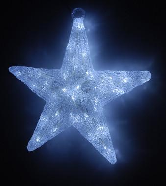 Hvězda svítící - 60 bílých LED