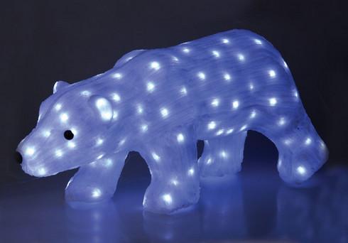 Lední medvěd milky svítící - 150 bílých LED