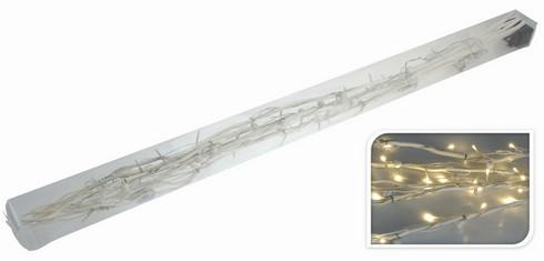 Větvičky vrbové svítící - bílé + napájecí zdroj