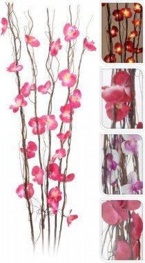 Orchidej svítící - fialovo-bílá 110 cm
