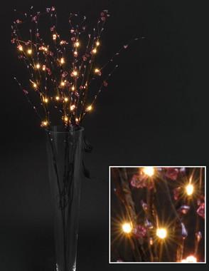 Větvičky vrbové svítící s růžovými kvítky