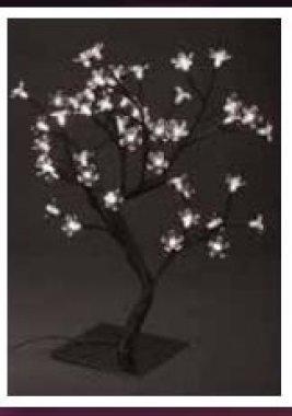 Stromek s květy, studená bílá