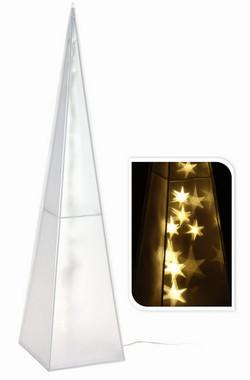 Vánoční jehlan svítící - 60cm