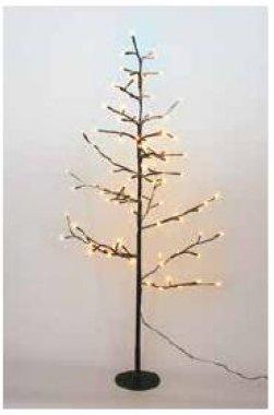 Strom svítící zasněžený (19 větví), teplá bílá