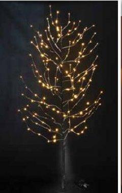 Strom svítící zasněžený (29 větví), teplá bílá