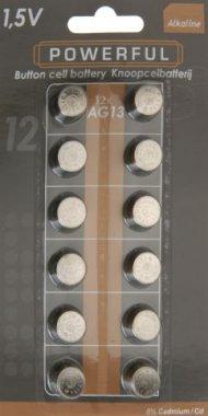 BATERIE AG13/LR44, 1,5V - 12ks