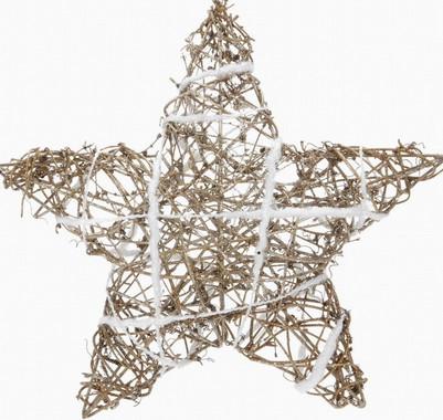 Vánoční hvězda s ratanem - prostorová