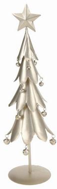Stromek vánoční kovový - zlatý
