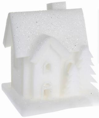 Vánoční LED svítící domek pěnoví - malý - varianta A