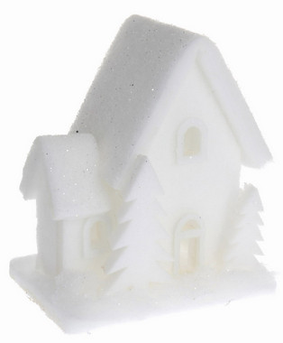 Vánoční LED svítící domek pěnoví - malý - varianta B