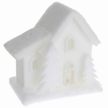 Vánoční LED svítící domek pěnoví - malý - varianta C